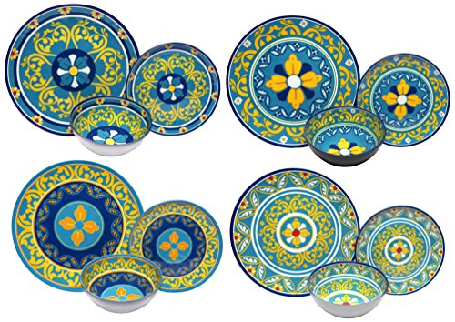 Melange 12-Piece 100% Melamine Dinnerware Set (Gardens of Italy Collection ) | Shatter-Proof and Chip-Resistant Melamine Plates and Bowls | Dinner Plate ...  sc 1 st  Plate Dish. & Non Breakable Plates. AmazonBasics 6-Piece Dinner Plate Set.