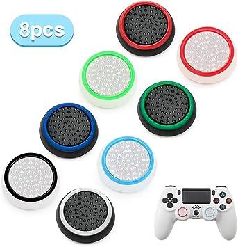 8 piezas de repuesto de almohadillas de silicona para mando analógico, compatible con mandos de PS4 PS3, PS2, Xbox 360, Xbox One: Amazon.es: Bricolaje y herramientas