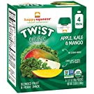 Happy Squeeze Twist Organic, Apple Kale Mango, 3.17 Ounce (Pack of 16)