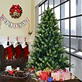 MD Group Christmas Tree Artificial PVC & PE Needles 4' Xmas Decor w/ Solid Metal Legs