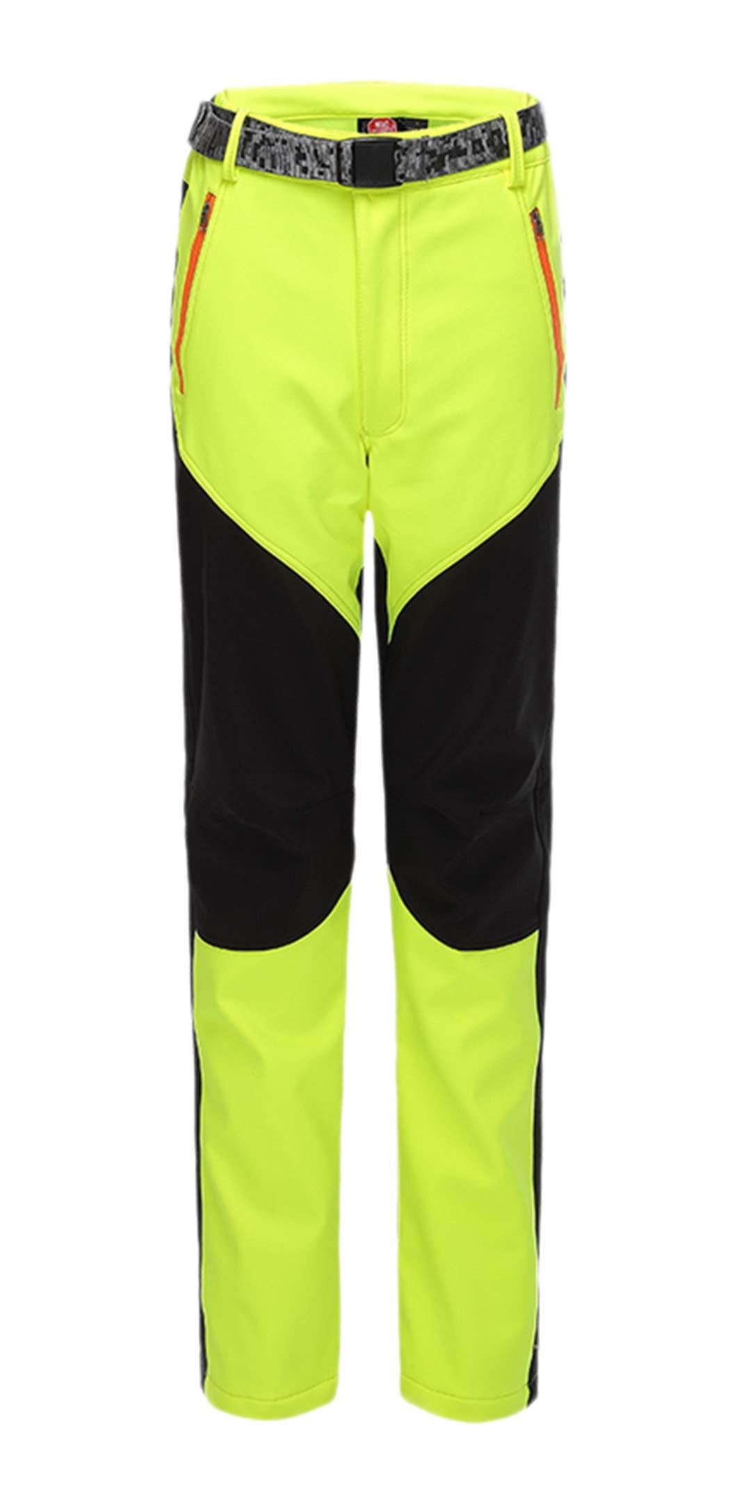 CATERTO Women's Outdoor Windproof Waterproof Softshell Fleece Snow Pants Green L by CATERTO