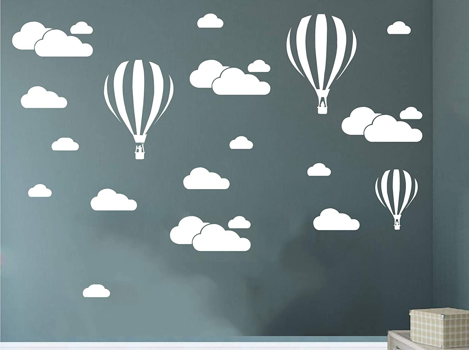 Wall stickers Kids Baby Children/'s Balloons Balloon stickers Hot Air Cloud Decal