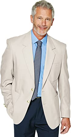 Chums Mens Single Breasted Long Fitting Oxford Blazer