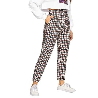 pas mal comment commander à bas prix POachers Pantalons Femme Taille Haute,Taille Élastique ...