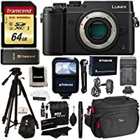 Panasonic DMC-GX8KBODY LUMIX GX8 Interchangeable Lens DSLM Camera Body Only + Transcend 64 GB High Speed + Polaroid 72