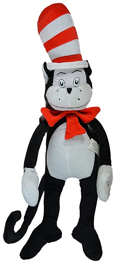 Amazon Com Dr Seuss The Cat In The Hat Stuffed Character Toy
