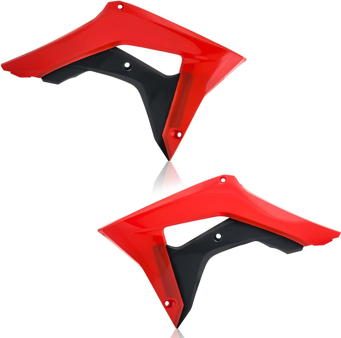 Acerbis 2630661018 Radiator Shrouds - Red/Black