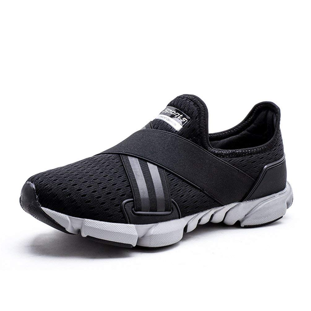 Herren Outdoor Athletic Sport Laufschuhe Frühling und Sommer Wanderschuhe Atmungsaktives Mesh Trainer Light Turnschuhe (Farbe   Schwarz, Größe   8 UK)