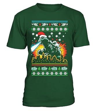 godzilla christmas sweater men t shirt