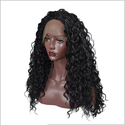 Peluca Peluca Pelo largo y rizado Negro - Pelucas naturales suaves y de moda para mujeres