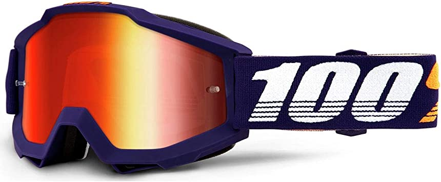 100/% Accuri Adult Off-Road Motorcycle Goggles AFO66//Clear Lens//One Size