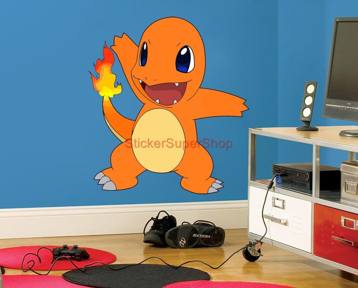 Amazon.com: CHARMANDER Pokemon Decal WALL STICKER Art Decor Mural C358,  Large: Home U0026 Kitchen