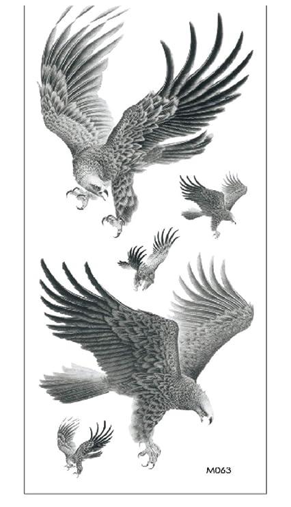 Etiqueta Engomada Temporal De Los Tatuajes Del Águila Voladora ...