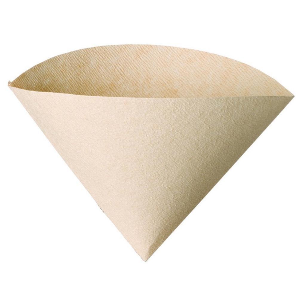 bleumoo 100個Coffee Filter Papers UnbleachedコーンカップエスプレッソStrainer Hand Drip用紙   B07BKTHN5G