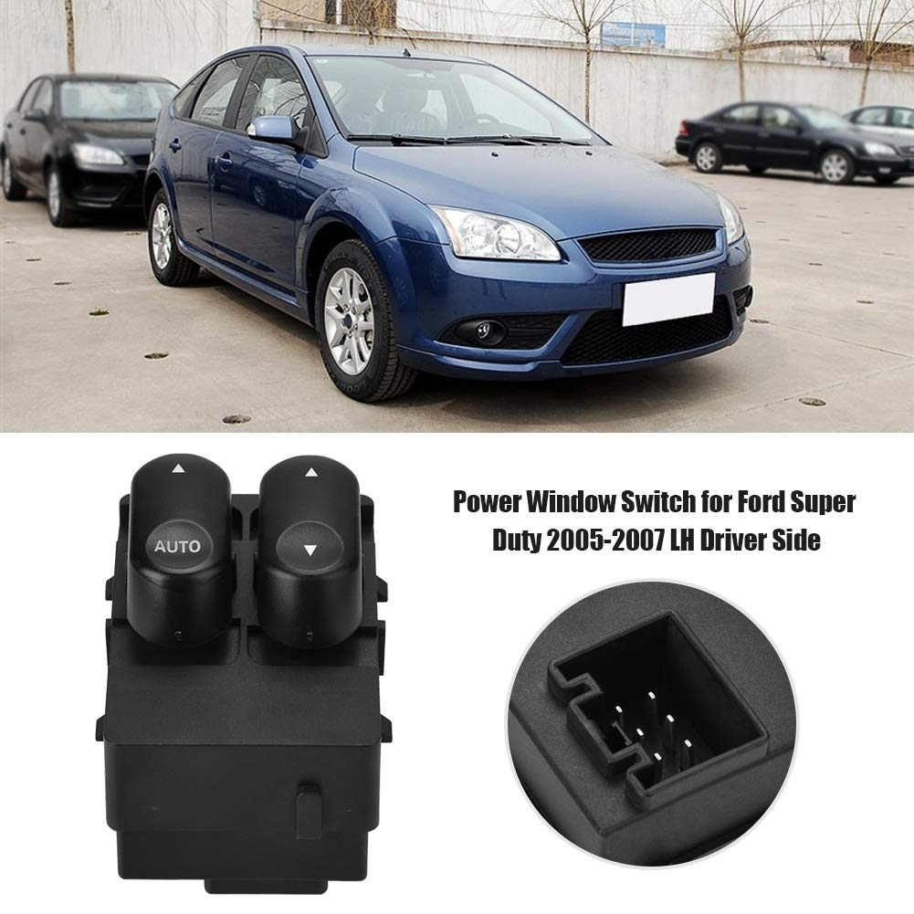 Driver Side Door Power Window Switch Electric Power Window Switch for Ford Super Duty 2005-2007 LH Driver Side 5C3Z-14529-AAA Aramox Window Switch