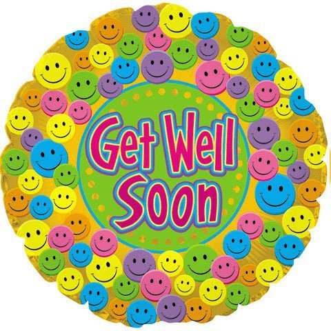 18 Inch Get Well Soon! Balloon Pkg/5
