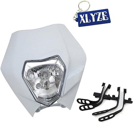 Xlyze Phare T/ête lumi/ère avant pour XR CRF CR 50/70/80/100/150/200/250/450/Dirt Moteur Pit Bike XR WR CR Rmz DR Drz KLX 250/Moto SSR Thumpstar Pitsterpro Gio