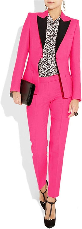 Amazon.com: Trajes de mujer Slim 2 piezas Blazer One Button ...