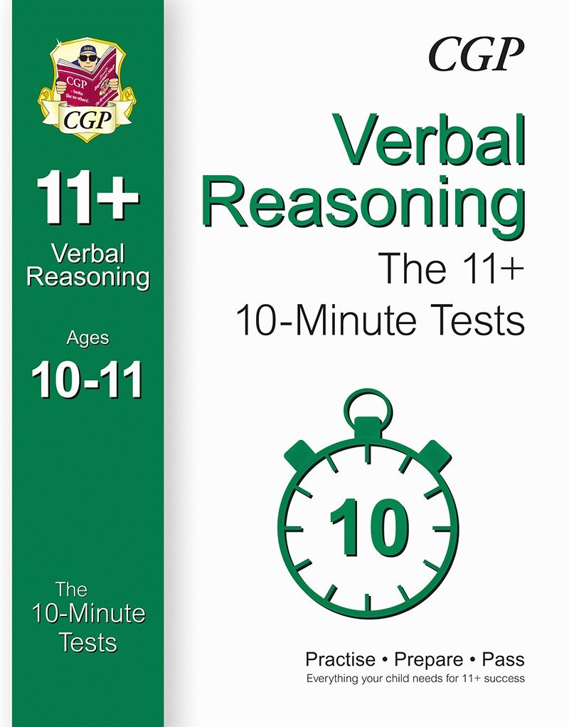10 minute tests for 11 verbal reasoning ages 10 11 for gl other test providers amazon co uk cgp books 9781782942580 books