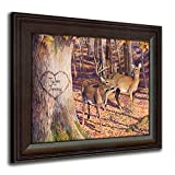 Whitetail Sunrise - Personalized Romantic Wildlife and Animal Framed Prints for anniversaries, weddings, Valentine's, and Christmas!