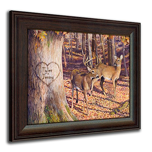 Personal Prints Whitetail Sunrise - Personalized Romantic Wildlife and Animal Framed Prints for anniversaries, weddings, Valentine's, and Christmas!