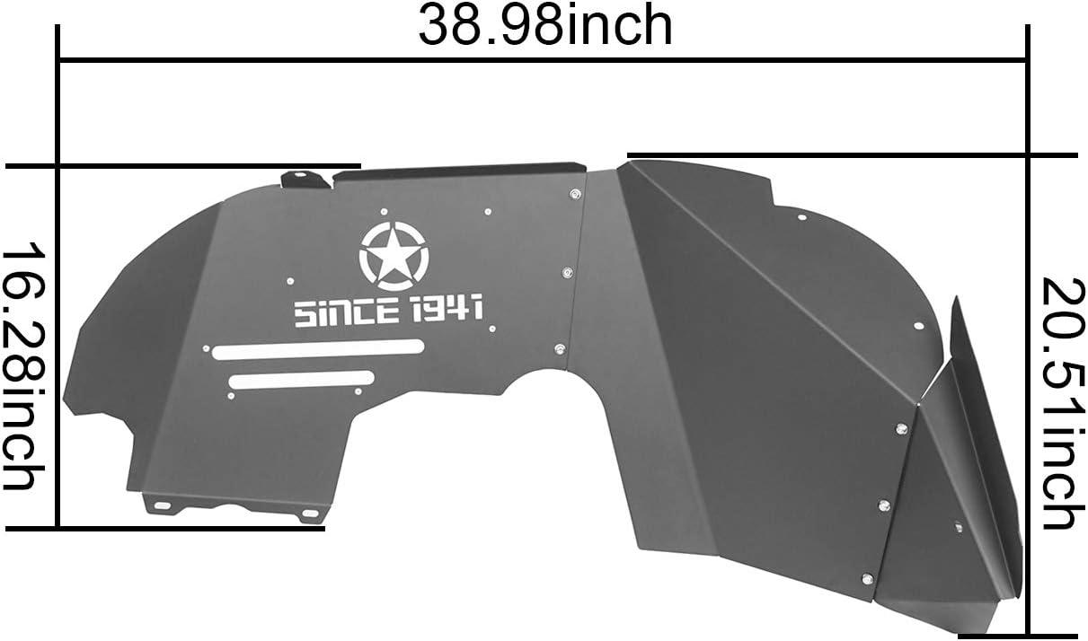 4pcs u-Box Front Inner Fender Liners /& Rear Inner Fender Liner for 2018 2019 2020 2021 Jeep Wrangler JL /& JL Unlimited