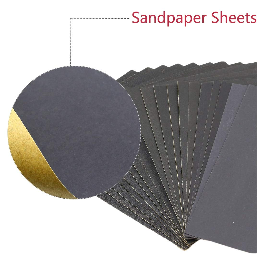 20Pcs Wet or Dry Sandpaper 180-3000Grit Waterproof Paper High Quality Full Size