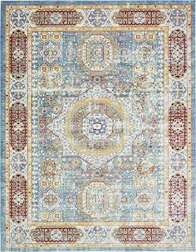 Luxury Traditional Vintage Modern Rugs 10' x 13' FT Blue Troy Collection Area Rug - Magnificent Living Room - Dinning room - Sitting room - Top Home Décor (Rug Modern 13 Collection)