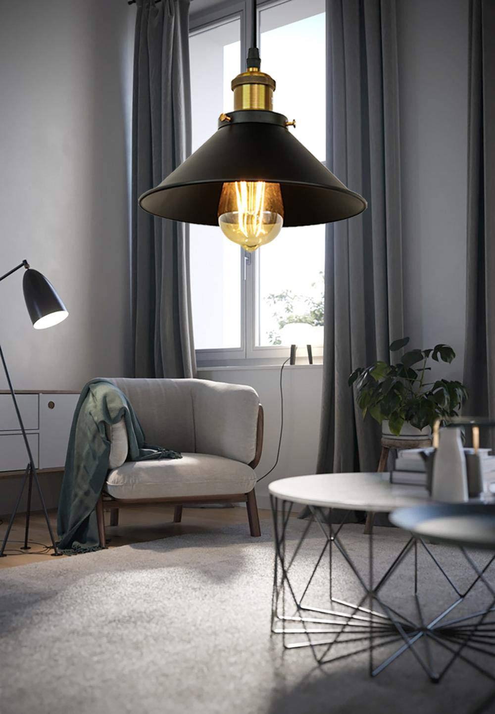 Vintage Luces Colgantes, Loft Rusia Lámpara Colgante Hanging Lámpara ...