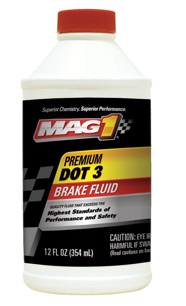 MAG1 122-pk12 Premium DOT 3 Brake Fluid - 12 oz., (Pack of 12)