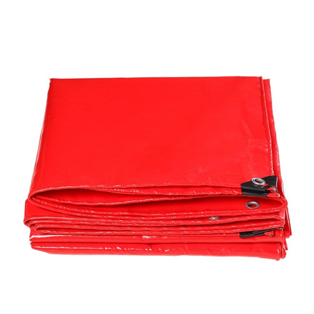 CHAOXIANG 厚い 両面 防水 耐高温性 耐寒性 防塵の 耐摩耗性 耐引裂性 耐食性 PVC 赤、 470g/m 2、 厚さ 0.45mm、 18サイズ (色 : 赤, サイズ さいず : 3x6m) B07DB718L2 3x6m|赤 赤 3x6m