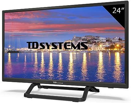 Televisor Led 24 Pulgadas HD, TD Systems K24DLX9H. Resolución 1366 x 768, HDMI, VGA, USB Reproductor y Grabador.: Amazon.es: Electrónica
