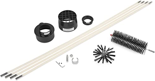 1 Drill Connector BestFire Dryer Vent Cleaner Kit 20 Feet Dryer Lint Brush Vent Trap Cleaner Flexible Dryer Lint Remove Fireplace Chimney Brushes with 15 Rods Use with Or Without Drill 1 Brush Head