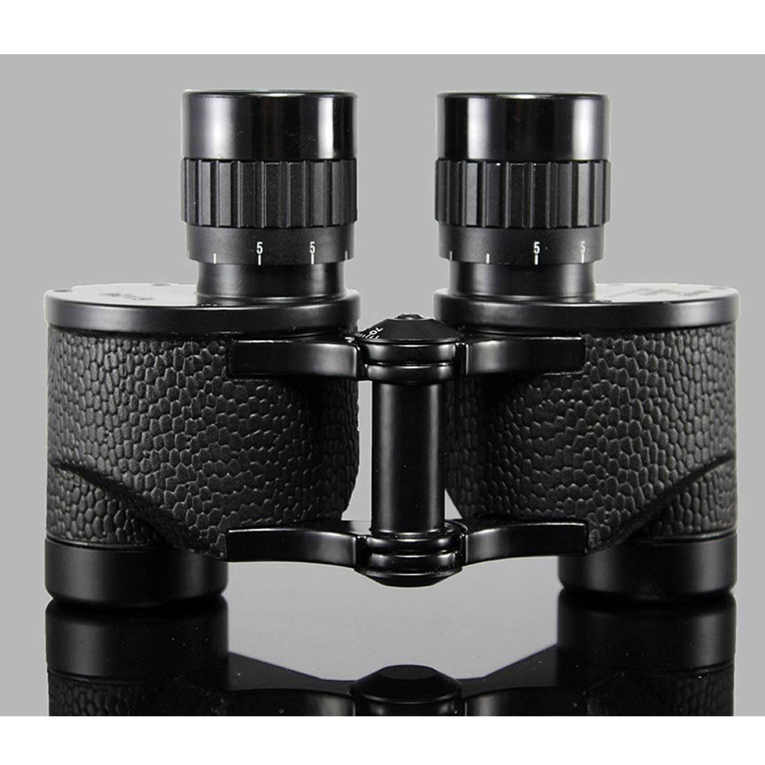 ZGQA-GQA 6x24 Compact Binoculars for Adults Kids Mini Metal Folding Telessope with Weak Light Night Vision for Concert Travel Hiking Bird Watching for Adult (Color : Black) by ZGQA-GQA