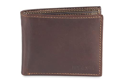 HIDE  amp; SLEEK Genuine Leather Light Brown Colored Wallets