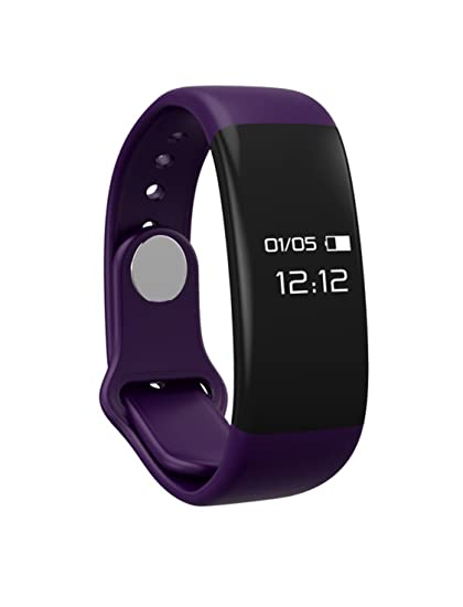 Amazon.com : H30 Bluetooth 4.0 Smart Band Bracelet with Touchscreen, Heart Rate Monitor, Track Your Steps, Calories Burned (PURPLE) : Sports & Outdoors