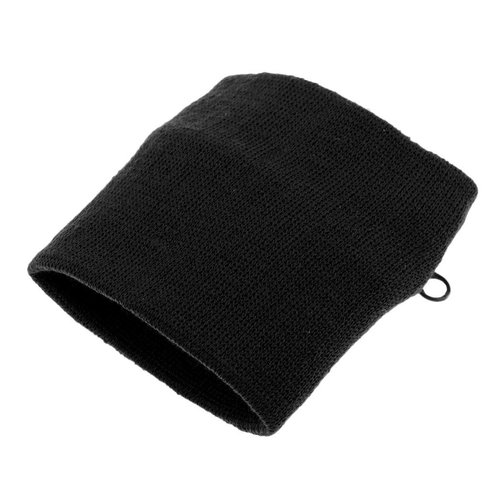 3er Set Unbekannt MagiDeal Schwarz Wristband Schwei/ßband mit Rei/ßverschlusstasche Handgelenktasche Armbandtasche Geldb/örse