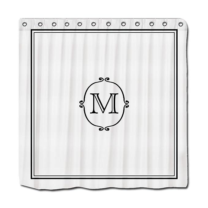 YYT Personalized Shower Curtains Elegant Custom Monogram Curtain 72quot