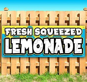 Lemonade 13 oz Banner Heavy-Duty Vinyl Single-Sided with Metal Grommets