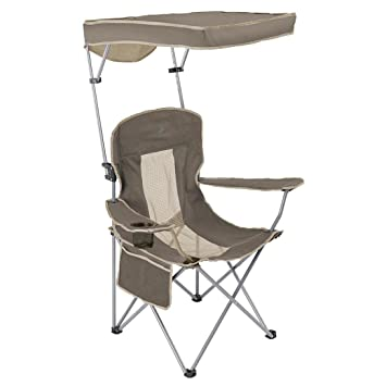 Oversize Folding C&ing Cooler Quad Chairs with Canopy Sun Shade Uv Protection Cup  sc 1 st  Amazon.com & Amazon.com : Oversize Folding Camping Cooler Quad Chairs with ...
