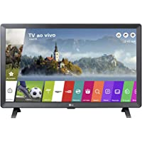 "Smart TV Monitor 24"" LED LG 24TL520S Wi-Fi WebOS 3.5 DTV Time Machine Ready, Preto"