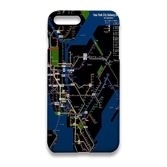 Iphone Nyc Subway Map.Amazon Com New York Subway Map Iphone 7 Plus Case Iphone 8 Plus