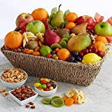 Deluxe Dried Fruits - Same Day Dried Fruit Basket Delivery - Dried Fruit Gifts - Best Dried Fruit Tray- Mixed Dried Fruit - Dried Fruit and Nut Gift Baskets