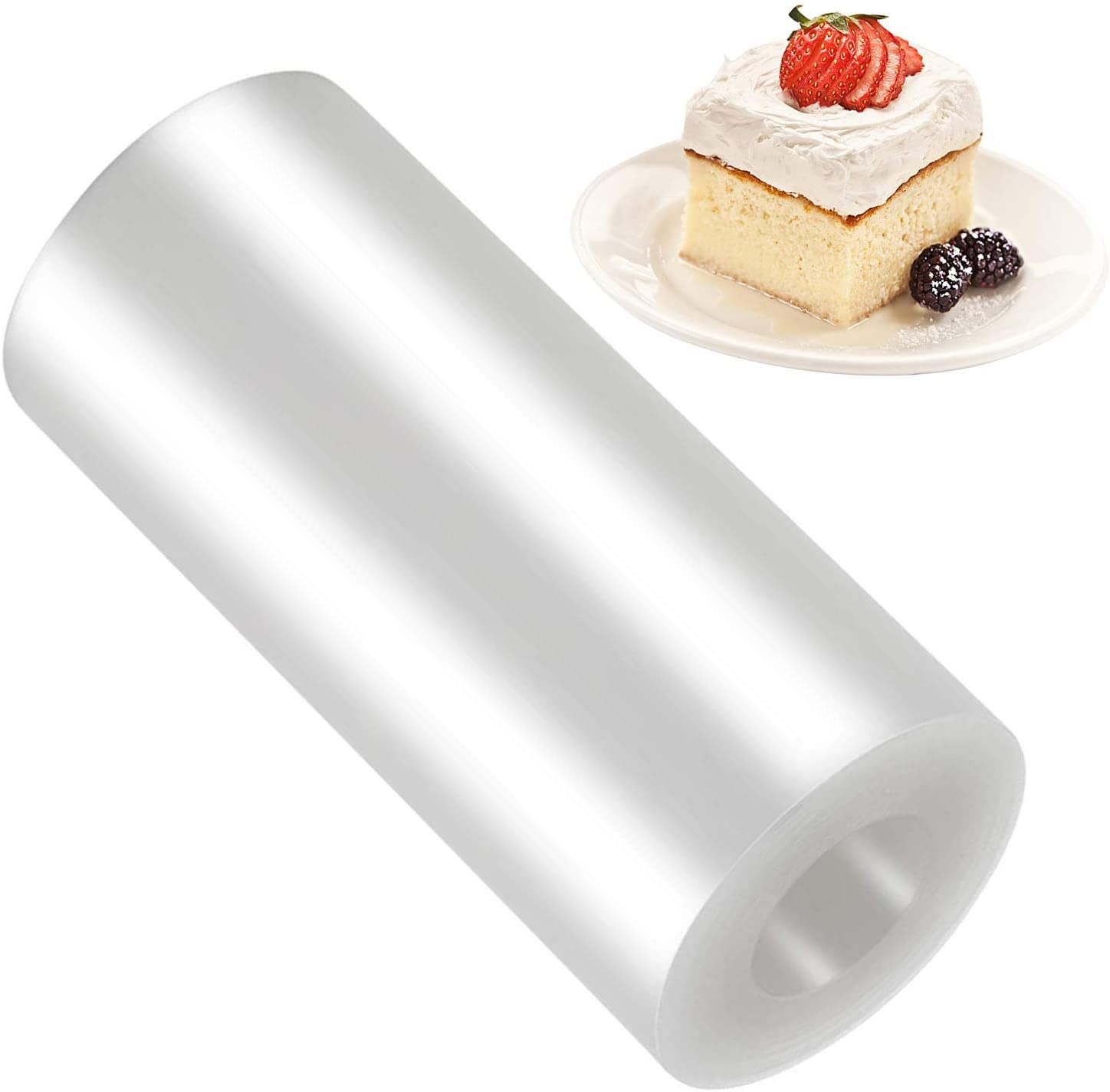 8 x 394Inch Cake Collar Acetate Sheets for Baking, Transparent Cake Strips, Clear Cake Rolls, Acetate Roll for Chocolate Mousse Baking, Food, Cake Surrounding Edge Decorating
