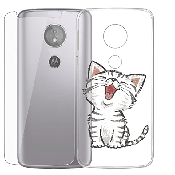 Case for Motorola Moto E5 Play (Not Suitable Moto E5),ZXLZKQ Kitten yawn