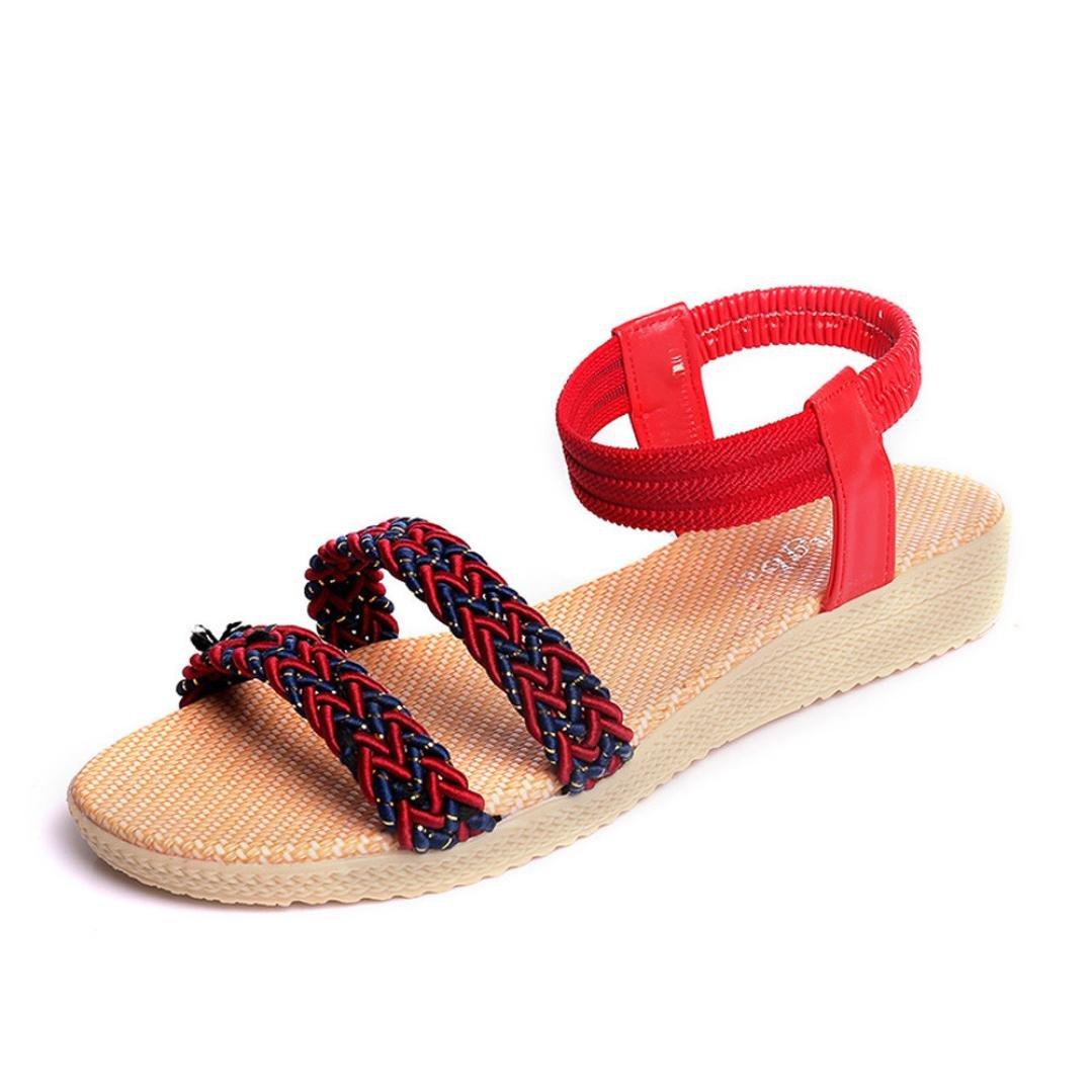 Womens Ladies Slip On Mules Slipper Strap Sandals Flat Flip Flop Summer Shoes