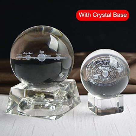 Liamostee - Bola de Cristal en Miniatura con Sistema Solar 3D ...