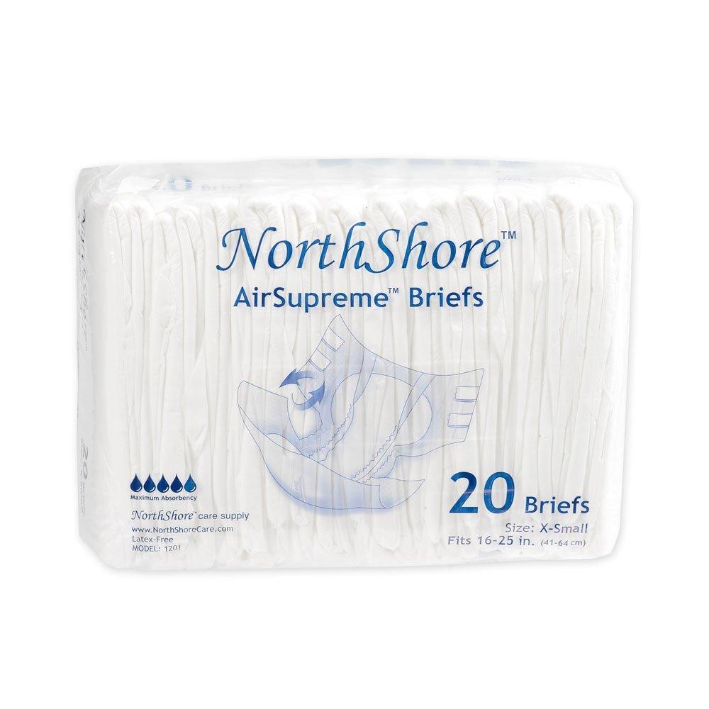 NorthShore AirSupreme Briefs, X-Small, Pack/20