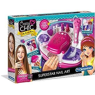 Clementoni 15174 Crazy Chic – Superstar Nageldesign, Kreativspielzeug für farbenfrohe Nailart, funkelndes Maniküre-Set mit bunten Nagellacken, für Kinder ab 6 Jahren 4