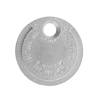 Fogun Bujía Bujía Gap Gauge Herramienta Medida Moneda Tipo 0.6-2.4mm Gama Bujía Gage